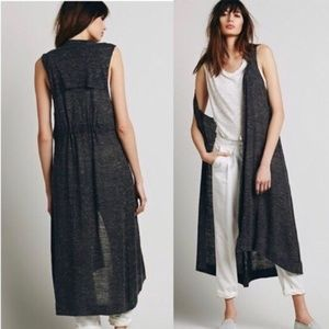 Free People dark gray duster
